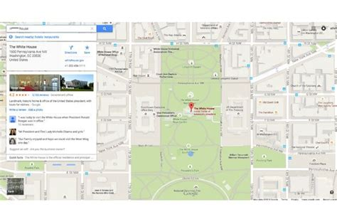 Directions To The White House by Maps N Word Search Shows White House Arada