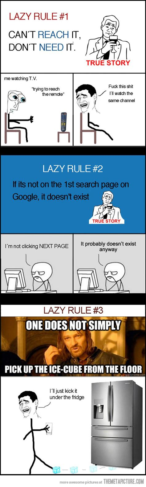 Funny Lazy Memes - lazy rules the meta picture