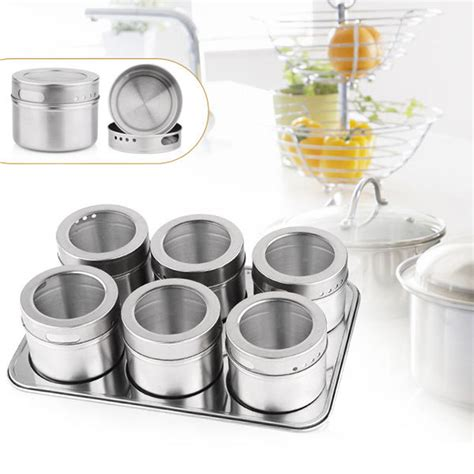 dynore stainless steel kitchen storage aliexpress com buy sale 6pcs magnetic cruet