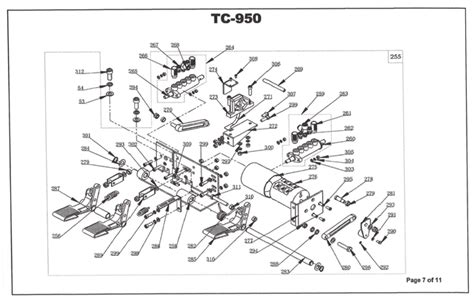 tc 950 parts breakdown machine diagrams of wheel
