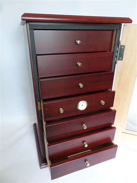 Humidor With Drawers by Mahogany Wooden Cigar Humidor With 7 Drawers And Glass