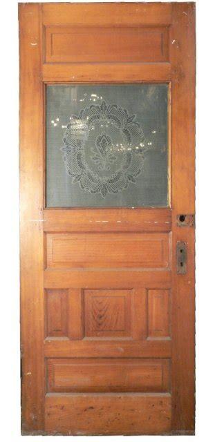 Antique Etched Glass Doors Beautiful Antique Pine Door With Original Acid Etched Glass C 1890 S For Sale Antiques