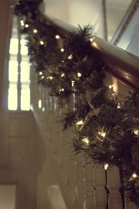stairwell christmas garland lighting 104 best garland images on decor diy decorations and
