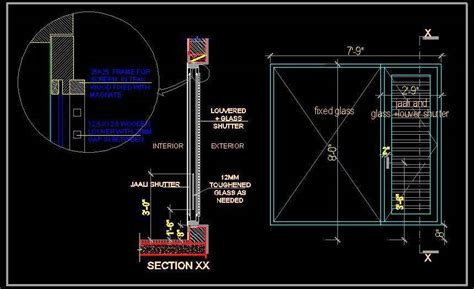Free Kitchen Design Tools by Window Shutter With Jaali Glass And Louver Plan N Design