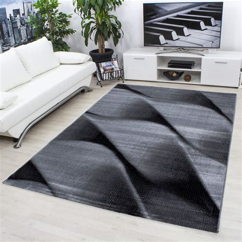 tappeto nero moderno progettista moderno soggiorno tappeto parma 9240 nero