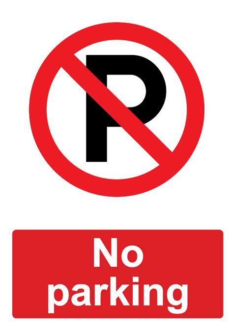 no parking signs template free signage uk printable prohibition signs