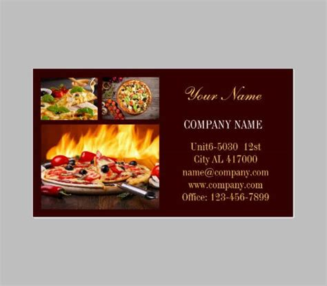 catering business card templates free premium