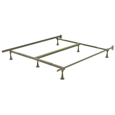 bed frame glides king size 6 leg sturdy metal bed fame with glides and