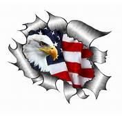 Bald Eagle &amp US Flag Motif External Vinyl Car Sticker 300x210mm