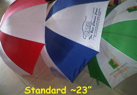 Payung Dua Sisi souvenir barang promosi harga payung jembatan