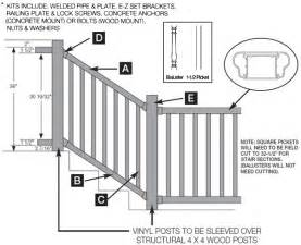 Handrail Stanchion Banister Kits For Stairs
