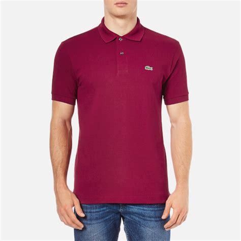 lacoste s polo shirt bordeaux clothing thehut