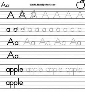 letter a handwriting worksheets for preschool to first