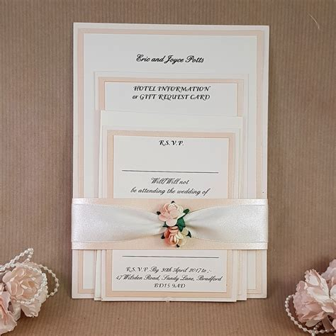 wedding invitations and rsvp card sets uk anji pale wedding invitation set which includes