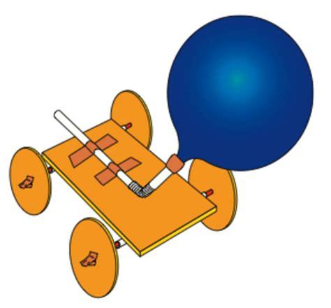 Balloon powered car car interior design