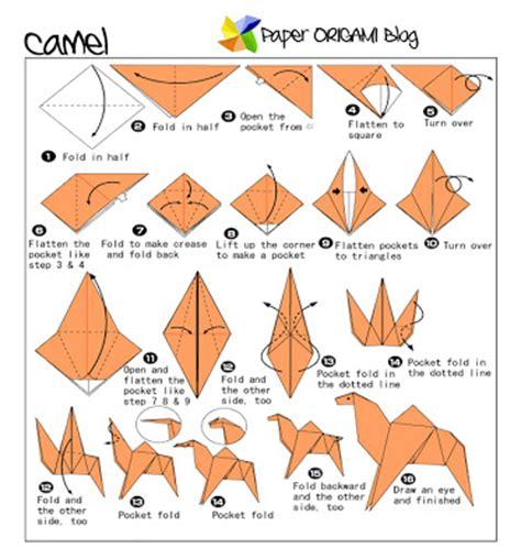 Origami Water Animals - camel origami folding diagram paper origami guide
