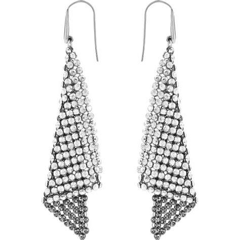 boucles d oreilles triangles pendantes swarovski sur