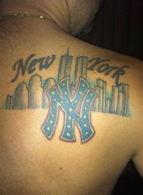 ny tattoo 23 best new york yankees tattoos images on