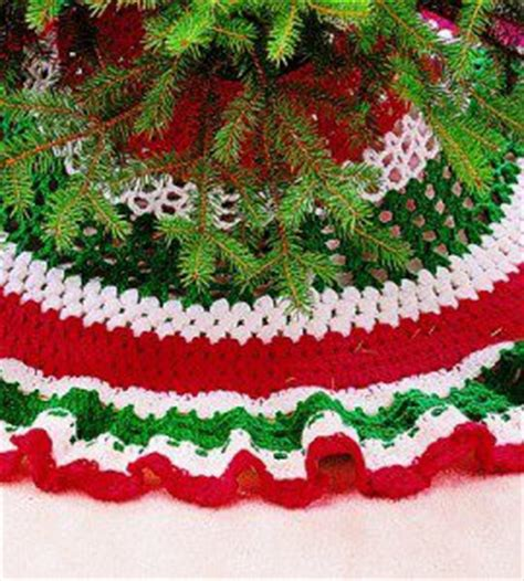 crochet christmas tree skirt patterns crochet tree skirts 33 free patterns grandmother s pattern book