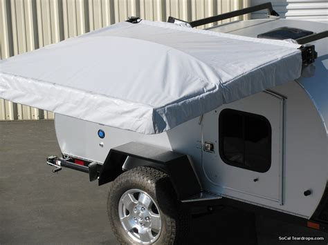 roof rack shade awning so cal teardrops options options scipio awning