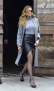 heidi klum leather mini skirt famous leather