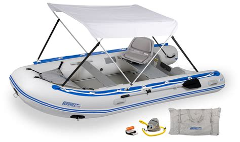 inflatable fishing boat with canopy sea eagle 12 6sr 6 person inflatable boats package prices