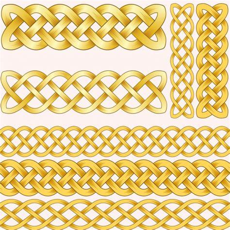 cadenas de oro ornamentales descargar vectores gratis - Cadena Oro Vector
