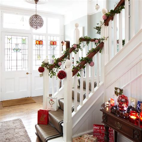 white christmas hallway housetohome co uk