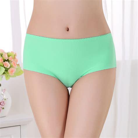 comfortable underwear women s hot sale new 2015 women s briefs ice silk sexy seamless