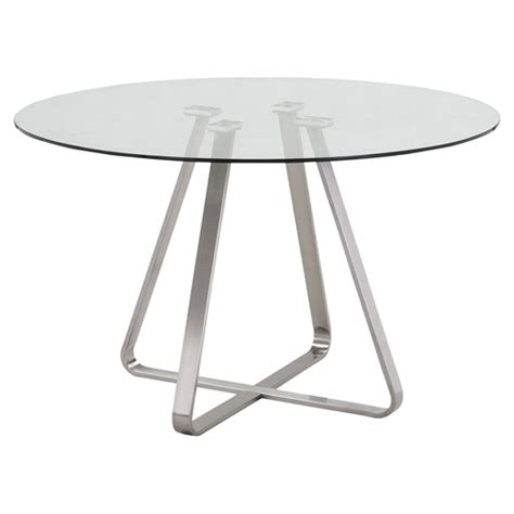 Cameo Modern Dining Table Glass Top Stainless Steel Stainless Steel Dining Table Glass Top