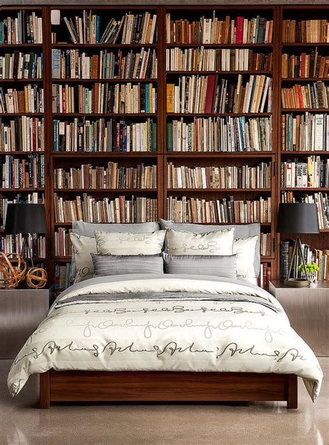 bedroom bookshelf modern bedroom interior arrangement as a sleep area and