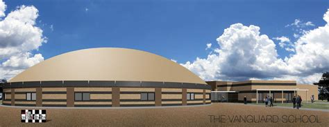 construction begins  school dome addition monolithic