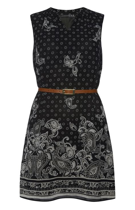 Belted Paisley Print Dress 9615 Primark Products