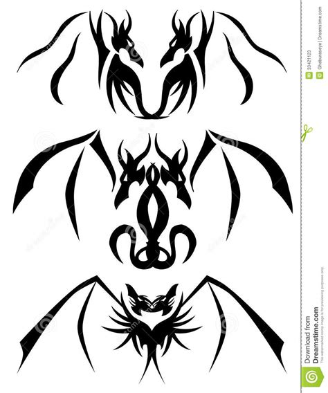 two headed dragon tattoos designs two headed tattoos stock photos image 33421123
