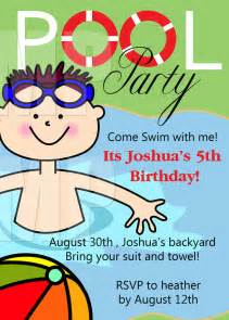 free printable birthday pool invitations templates niko birthday ideas