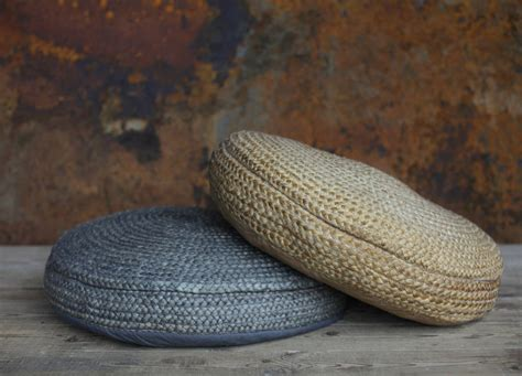 Hemp Braids - braided hemp pouf by nkuku notonthehighstreet