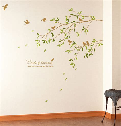removeable wall stickers tree branch bird wall decals stickers wallstickery