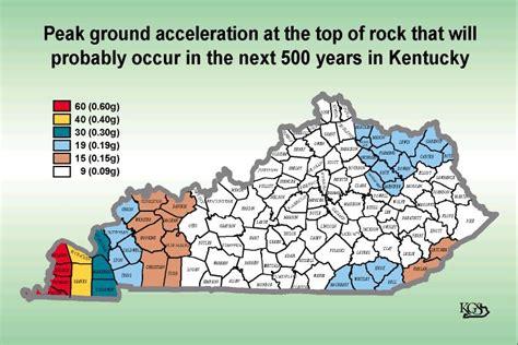 Bathroom Hazard Zones Earthquake Map Kentucky