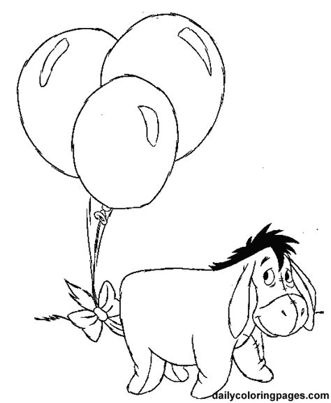 Eeyore Winnie The Pooh Coloring Pages Kids Coloring Pages Eeyore Colouring Pages