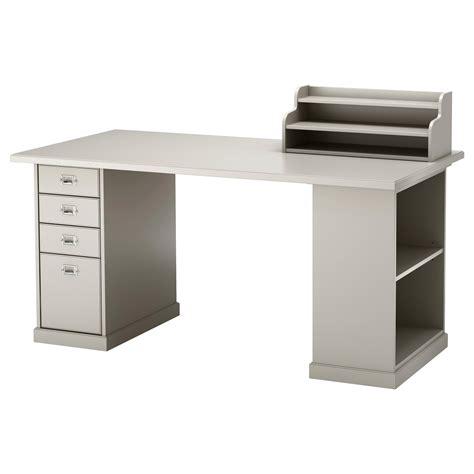 Klimpen Table Light Grey 150x75 Cm Ikea White Light Desk L