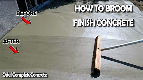 How to Broom Finish a Concrete Slab   YouTube