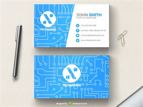 20 Professional Business Card Design Templates For Free Download Graphicflip Tech Business Card Template