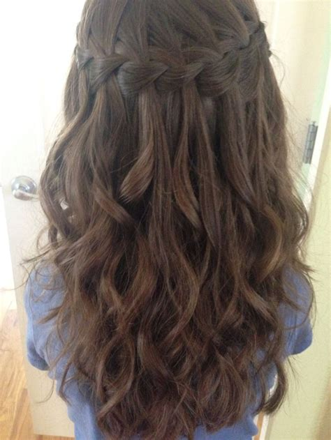next day hair styles the 25 best waterfall braid prom ideas on pinterest