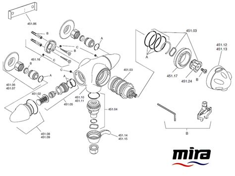 Mira Shower Spare Parts by Mira Fino Exposed 2002 2009 Shower Spares And Parts