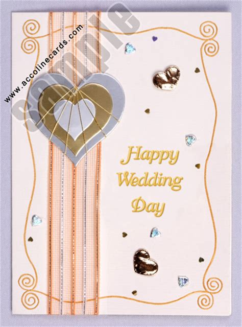 Handmade Greeting Cards For Wedding - handmade wedding day greeting card greeting cards