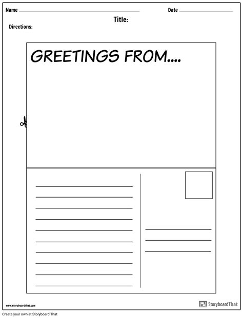 Create a Letter or Postcard Project | ELA Project Ideas
