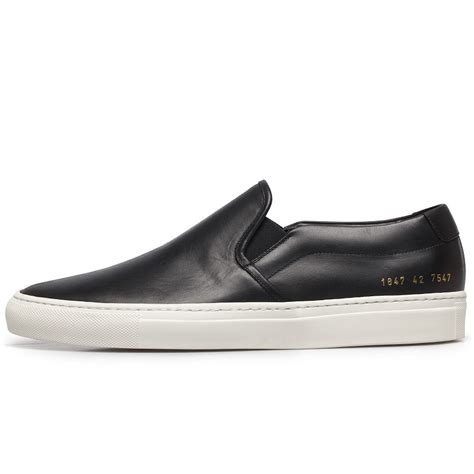Ordinary Black Men Church Suits #5: Common-projects-none-black-leather-slip-on-sneakers-none-product-4-132577773-normal.jpeg