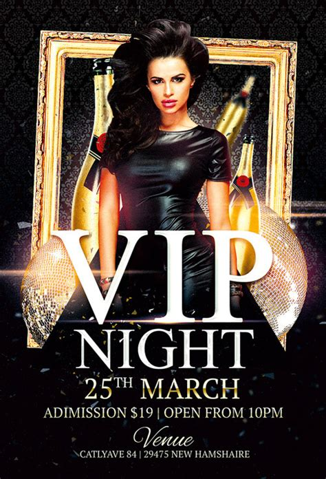 Vip Night Club Flyer Template For Photoshop Awesomeflyer Com Club Flyer Templates Photoshop