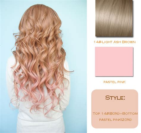 the gallery for gt pastel pink highlights in brown hair