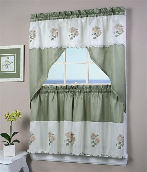sunflower kitchen curtain simply window sunflower kitchen curtain tier pair home
